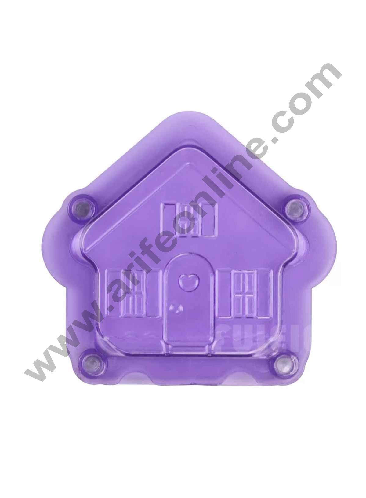 Cake Decor Polycarbonate 3D House Home Chocolate Mold Cake Decorating Chocolate Mould Tools