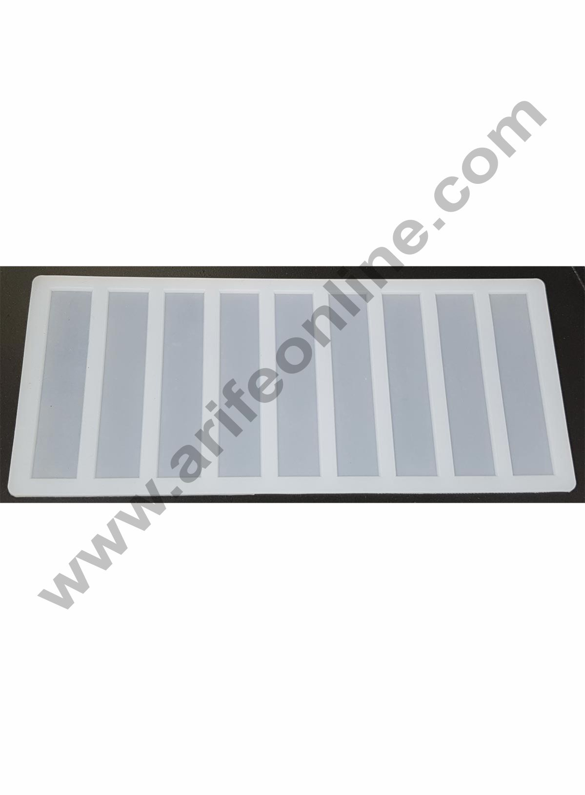 Cake Decor Silicon 9 in 1 Small Rectangle Chocolate Garnishing Mould Cake Insert Decoration Mould
