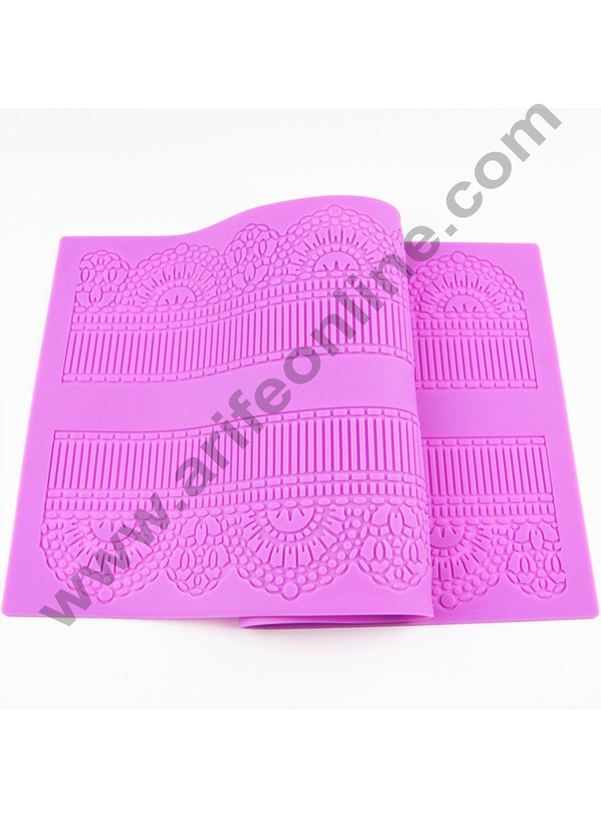 Cake Decor Dessert Border Flower Pattern Silicone Mat Fondant Cake Lace Embossed Cake Mold Sugar Lace Mat Cake Decorating Tool Embossing Sguar lace pad