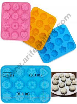 12 Cavity Flower Shapes moulds SBSM-019