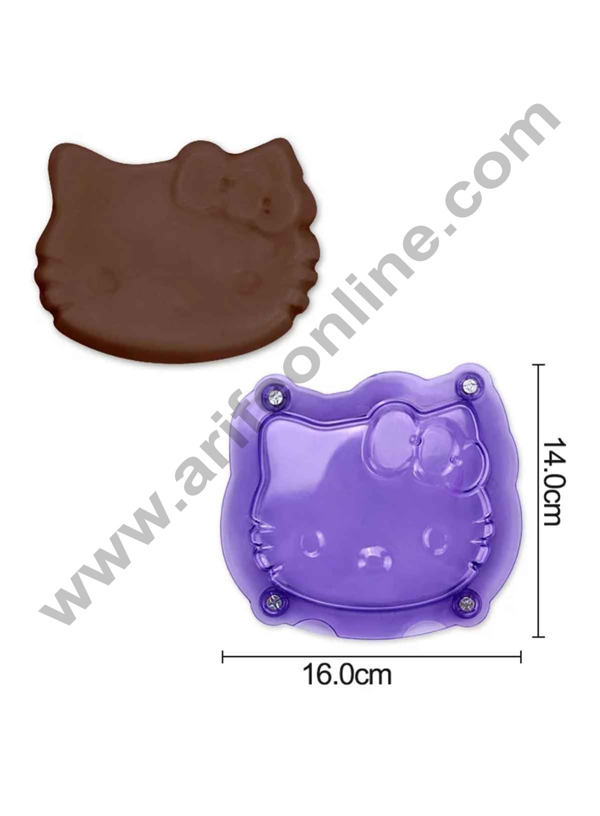 Cake Decor Polycarbonate 3D Hello Kitty Face Chocolate Mold Cake Decorating Chocolate Mould Tools