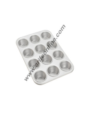 Cake Decor 12 in 1 Aluminum Muffin Mould Cupcake Mould