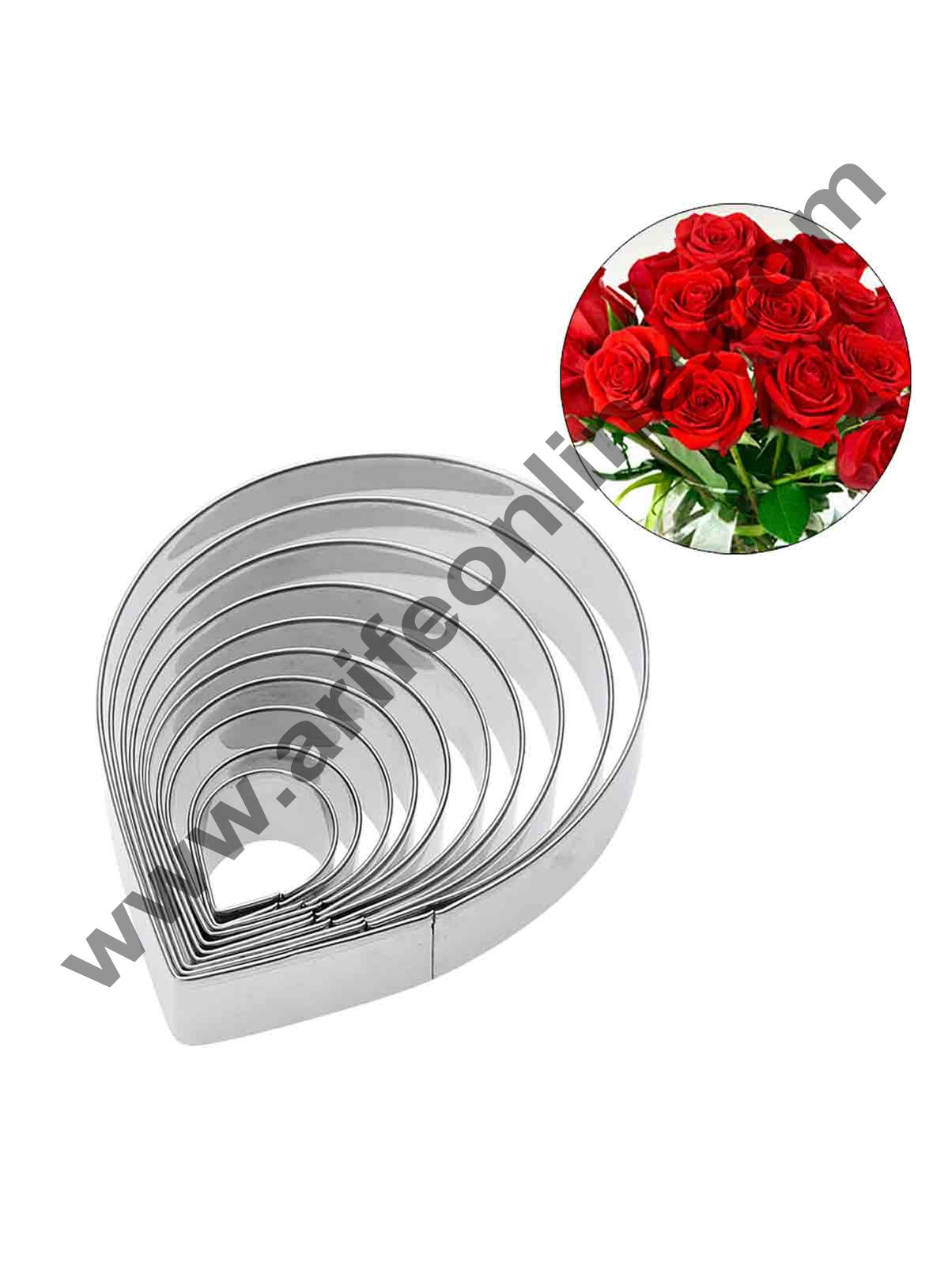 Cake Decor 10 Pcs Rose Petal Cutter Bakeware Mould Biscuit Mould Set Sugar Arts Fondant Cake Decoration Tools