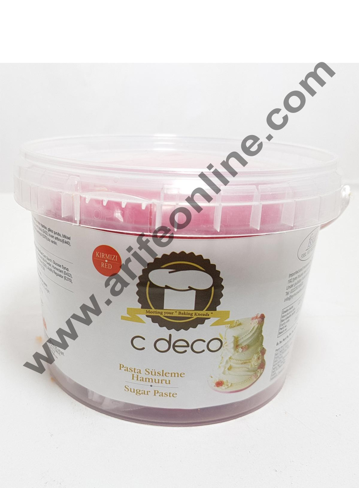 C Deco Sugar Paste (Fondant)-Red 1KG