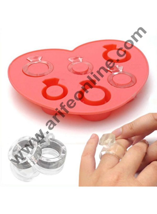 Cake Decor 6 in 1 Ring Ice Tray Chocolate wedding decoration Silicone Mould Fondant Sugar Bow Craft Molds 1