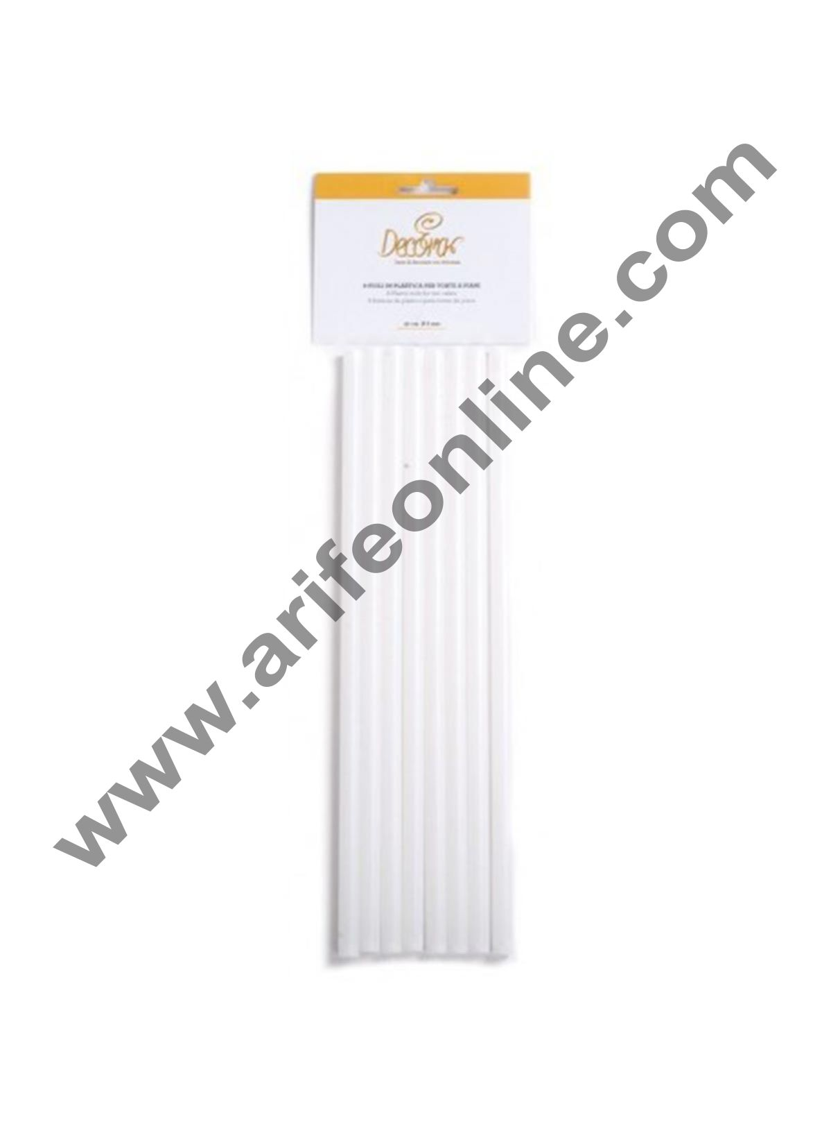 Cake Decor 8Pcs Plastic White Dowel Rods for Tiered Cake Construction, 30CM*1CM