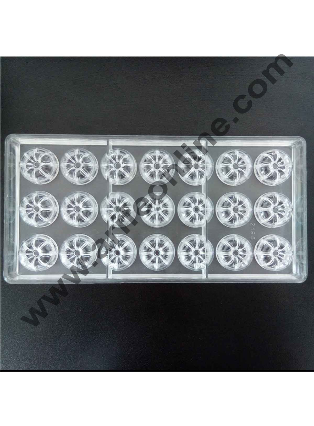 Cake Decor 21 Cavity New Design Flower Moon Cake Shape Hard Plastic Inject Polycarbonate PC Cake Chocolate Mould Mold