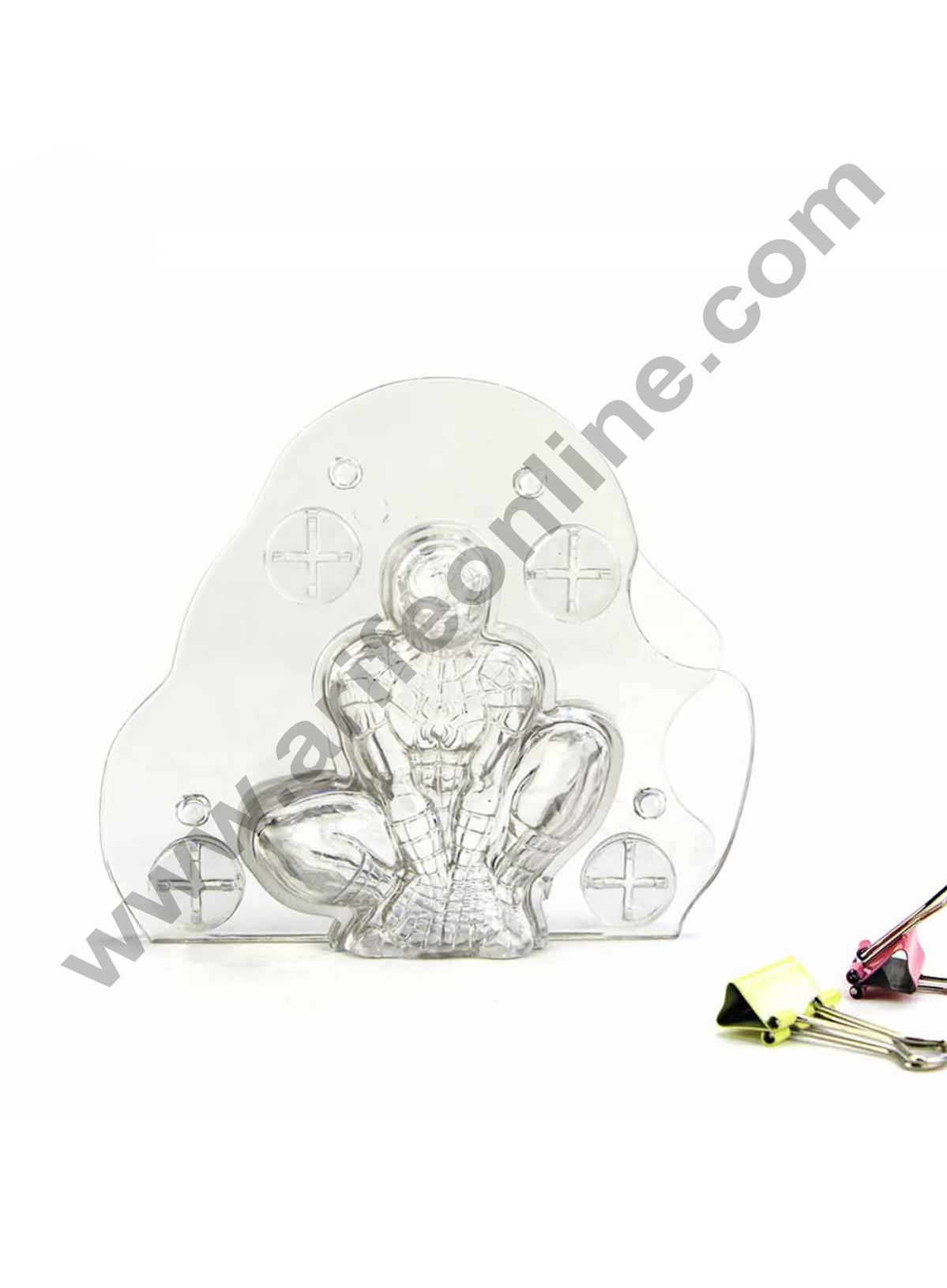 Cake Decor Polycarbonate 3D Spider Man Chocolate Mold Cake Decorating Chocolate Mould Tools