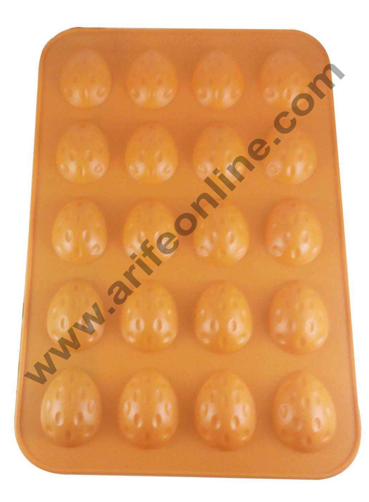 Cake Decor Silicon 20 in 1 Almond Shape Muffin Cupcake Mould