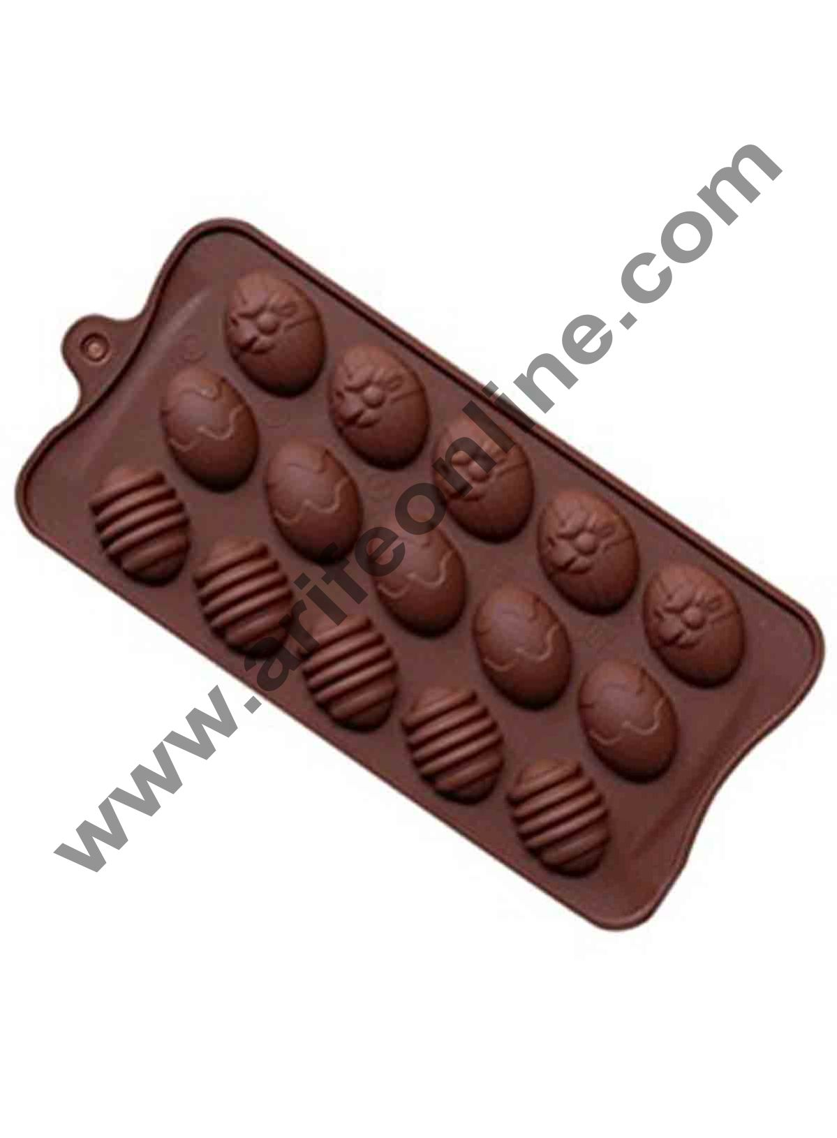 Cake Decor 15-Cavity Easter Egg Silicone Mould for Homemade Soap, Cake, Cupcake, Pudding, Jello, Bread,Soap Ice Cube Tray Mould Mold Shape Silicone Brown Chocolate Moulds