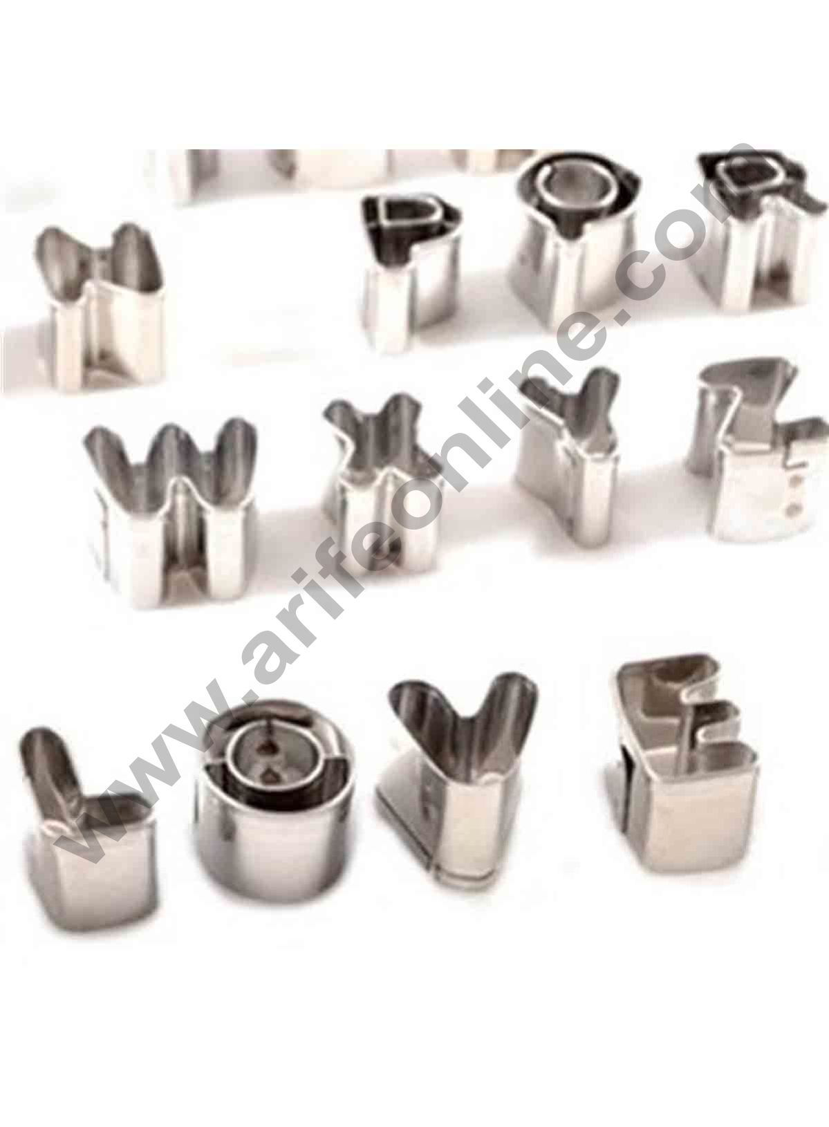 Cake Decor 36pcs/Set Stainless Steel Alphabet Letters & Numbers Baking Molds Fondant Cake Decorating Cutters Cookie Biscuit Mould Set