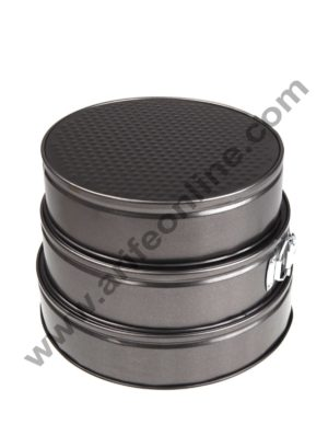 Cake Decor Springform Tin Nonstick Cake Mould Bakeware Pan Round Set of 3