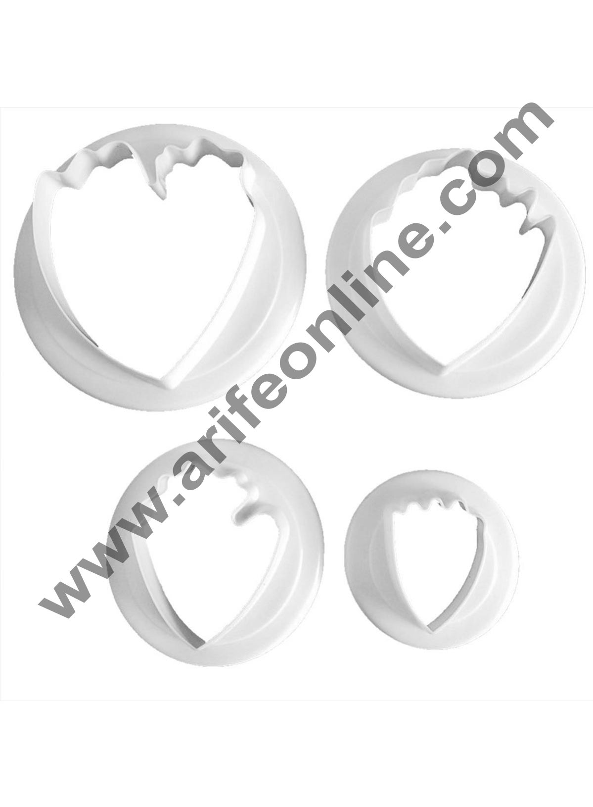 Cake Decor 4 Piece Mini Peony Cookie Cutter Paste Plunger Cake Decorating Pastry Topper White