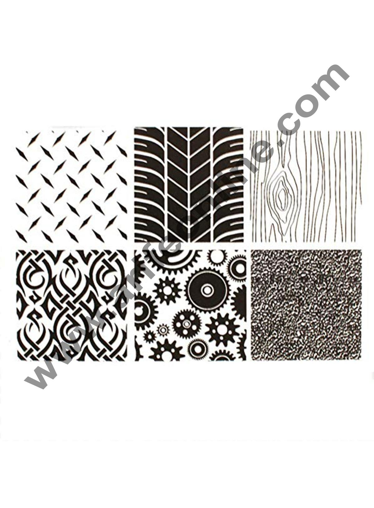 Cake Decor 6PCS Manly Texture Sheet Set Tyre Texture Mat For Sugar Craft Decoration Cookie Cupcake Fondant Cake Mold Baking Tools For Cakes