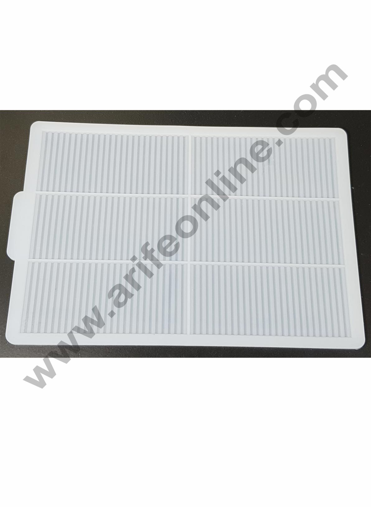 Cake Decor Silicon 6 in 1 Rectangle Straight Line Shape Chocolate Garnishing Mould Cake Insert Decoration Mould
