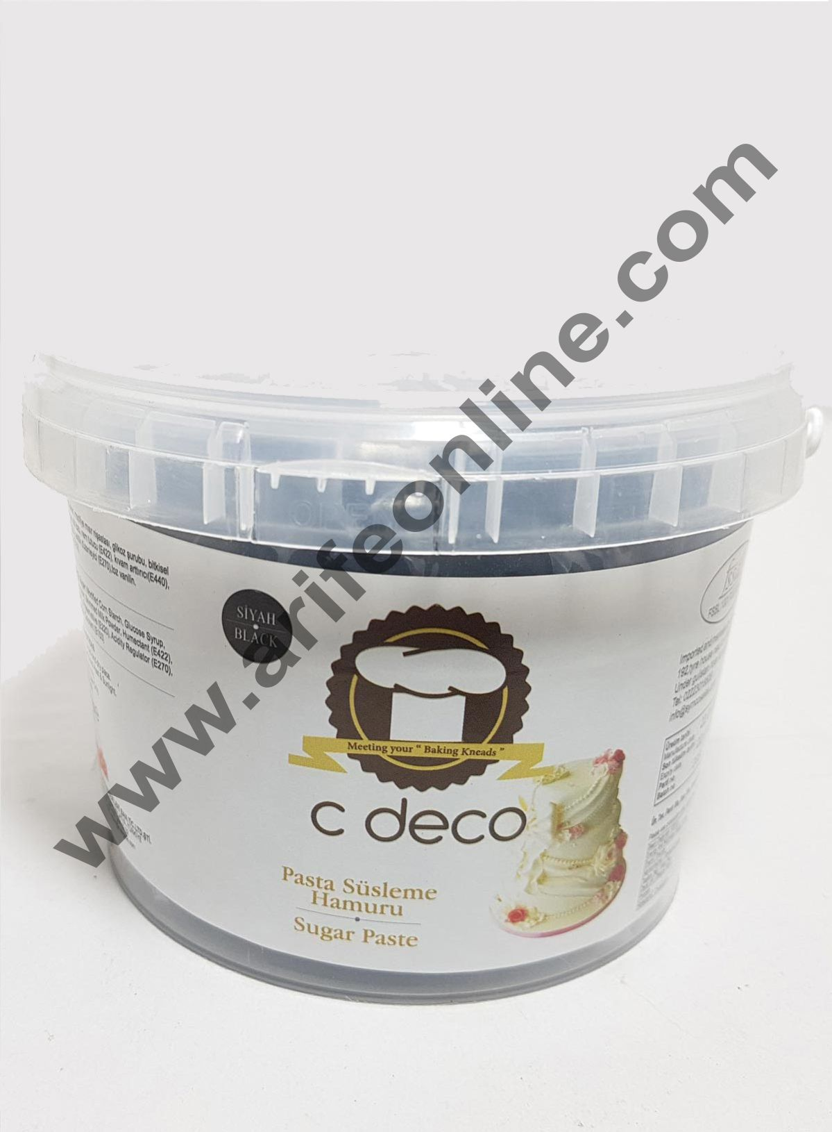 C Deco Sugar Paste (Fondant)-Black 1KG