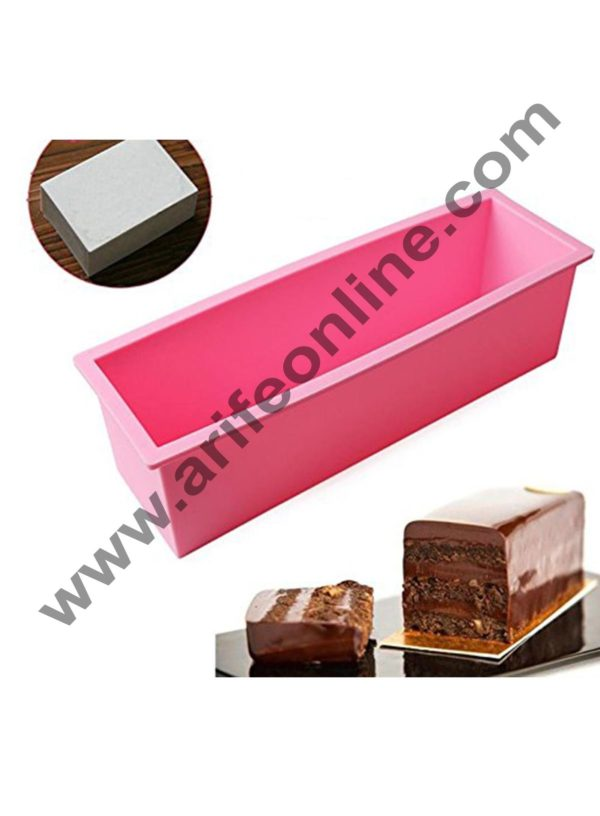 Cake Decor Silicon Rectangular Soap /Cake /Loaf Mold Size :27 x 8.8 x 8 CM (Output Weight : Approx 1
