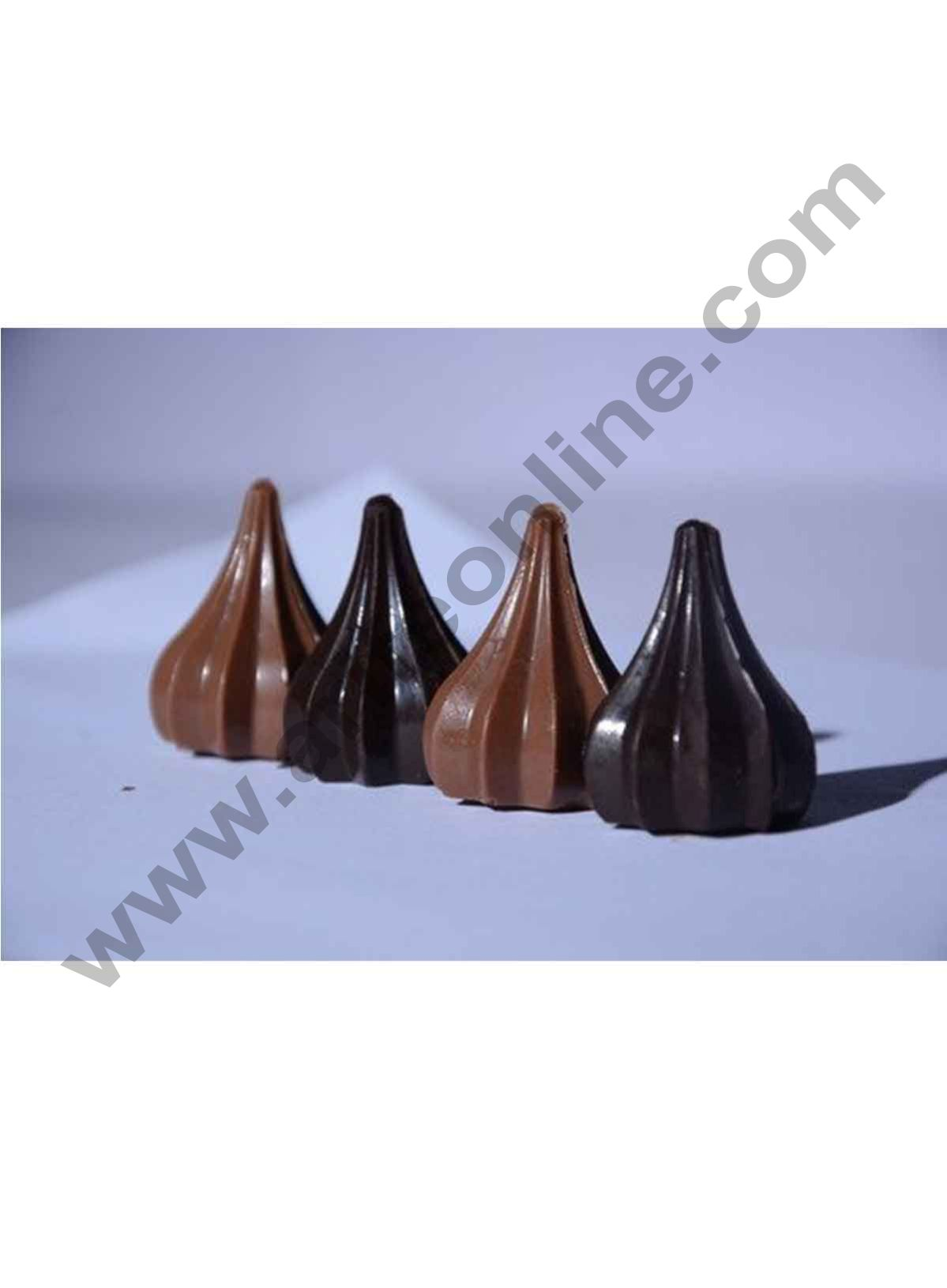 Cake Decor Modak Shape 8 Cavity Chocolate Mould, Silicone Molds for Chocolate, Chocolate Silicone Moulds, Silicon Brown Chocolate Moulds for Ganesh Chaturti Festivals