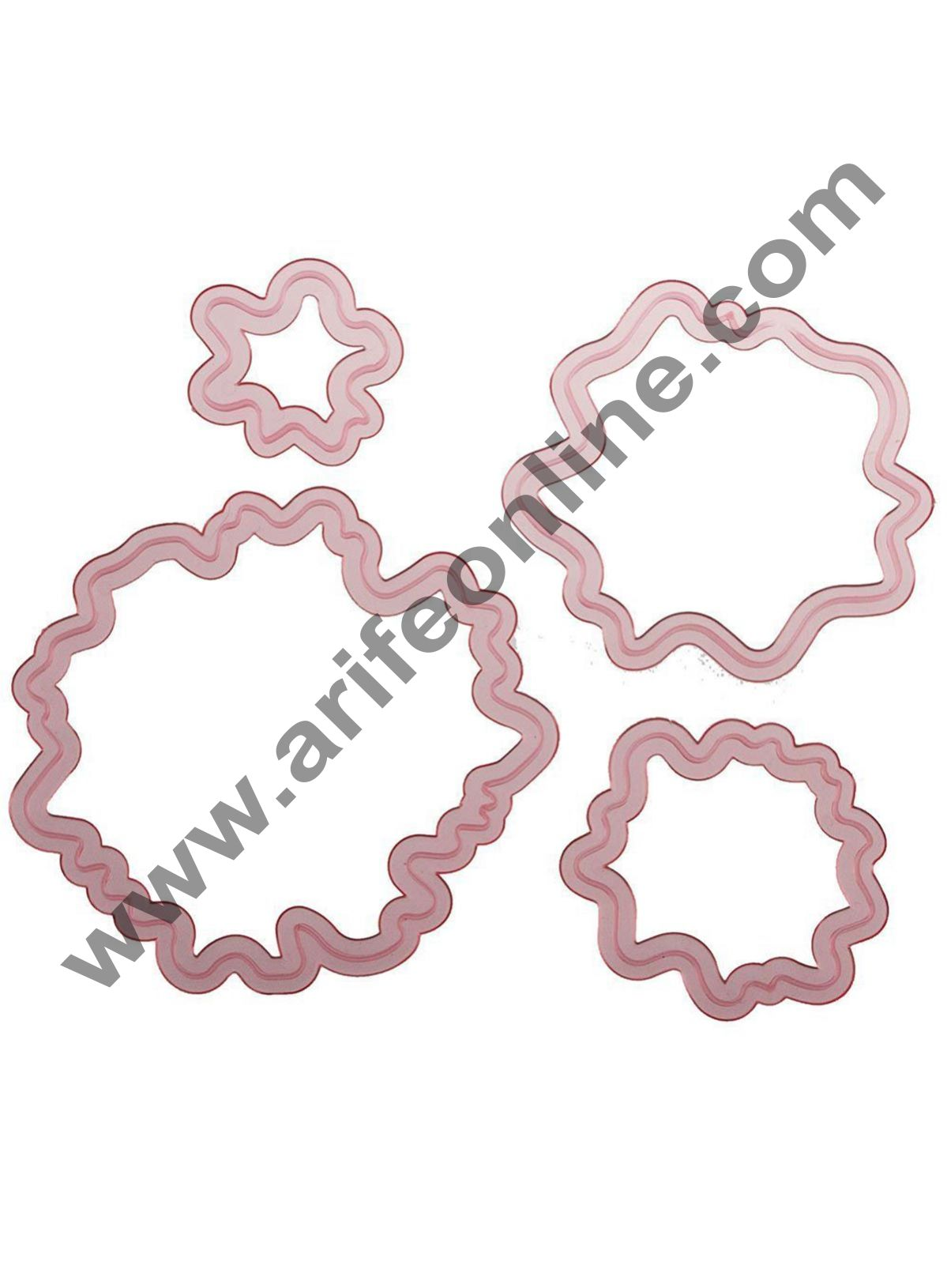 Cake Decor  Whimsical Peony Peonies Flower Cutter Set of 4 cutters for rolled fondant and gum paste