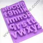 """Cake Decor """"a-z"""" 26 English Letters Small Alphabet Soap Ice Cube Chocolate Candy Silicone Mold Cake Decoration Pan Silicone Alphabet Baking Mold"""