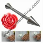 Cake Decor 1Pc Aluminium Alloy Sticks Cone Holder Cake Piping Rod Icing Cream Flower Roses Cake Decoration Baking Pastry Tool 2
