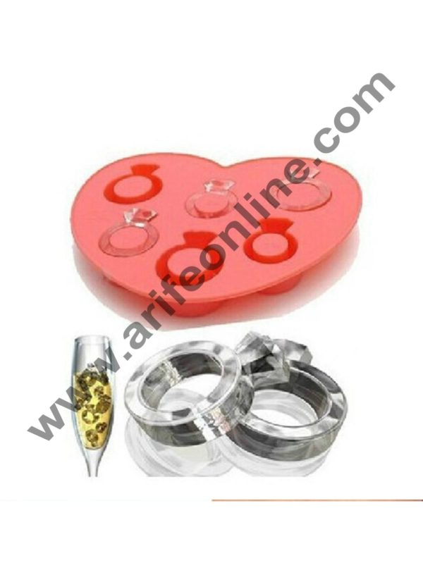 Cake Decor 6 in 1 Ring Ice Tray Chocolate wedding decoration Silicone Mould Fondant Sugar Bow Craft Molds 2