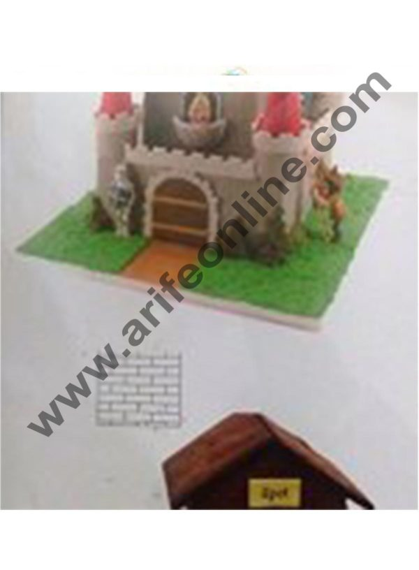Cake Decor Include Brick Oval and Cobblestone Pattern Texture Sheet( set of 3 Pcs ) 3