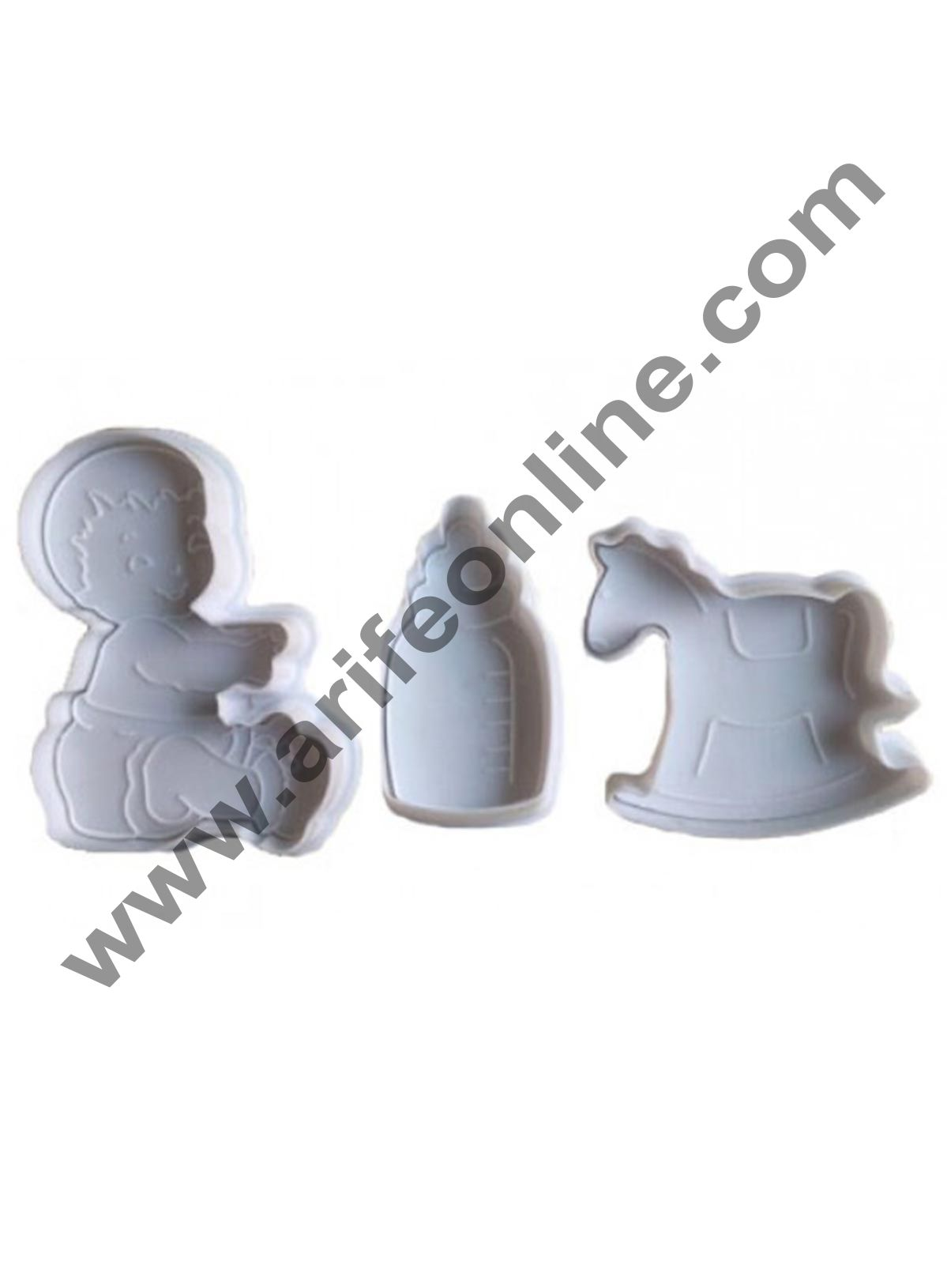 Cake Decor 3 pcs Baby Plunger Cutter