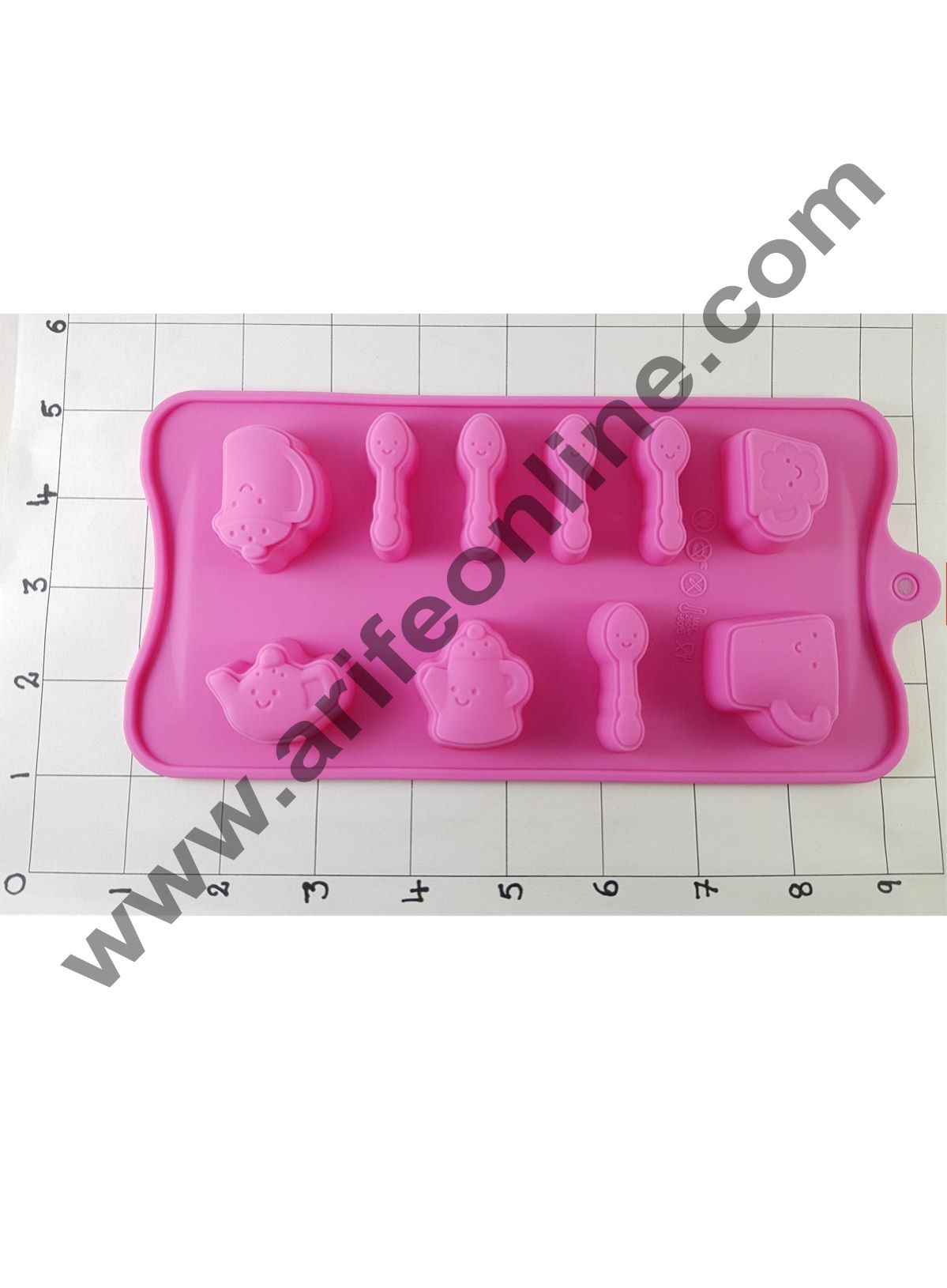 Cake Decor Silicon 10 Cavity Babys Spoon,Milk Bottle Shapes Design Chocolate Mould, Ice Mould, Chocolate Decorating Mould