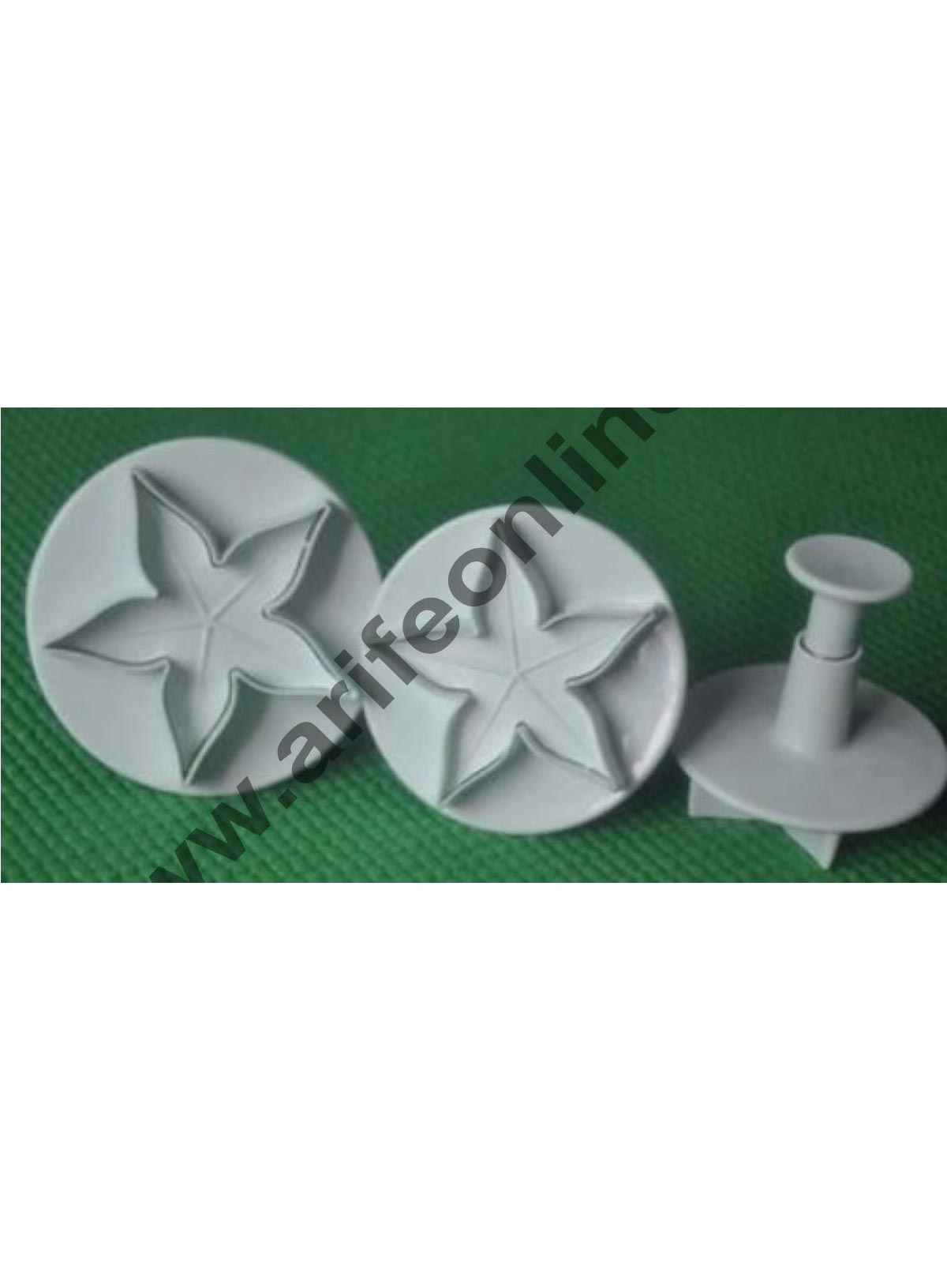 Cake Decor 3 Pcs Set Calyx Plunger Cutter Flower Petal Craft Cake Decorating Tool