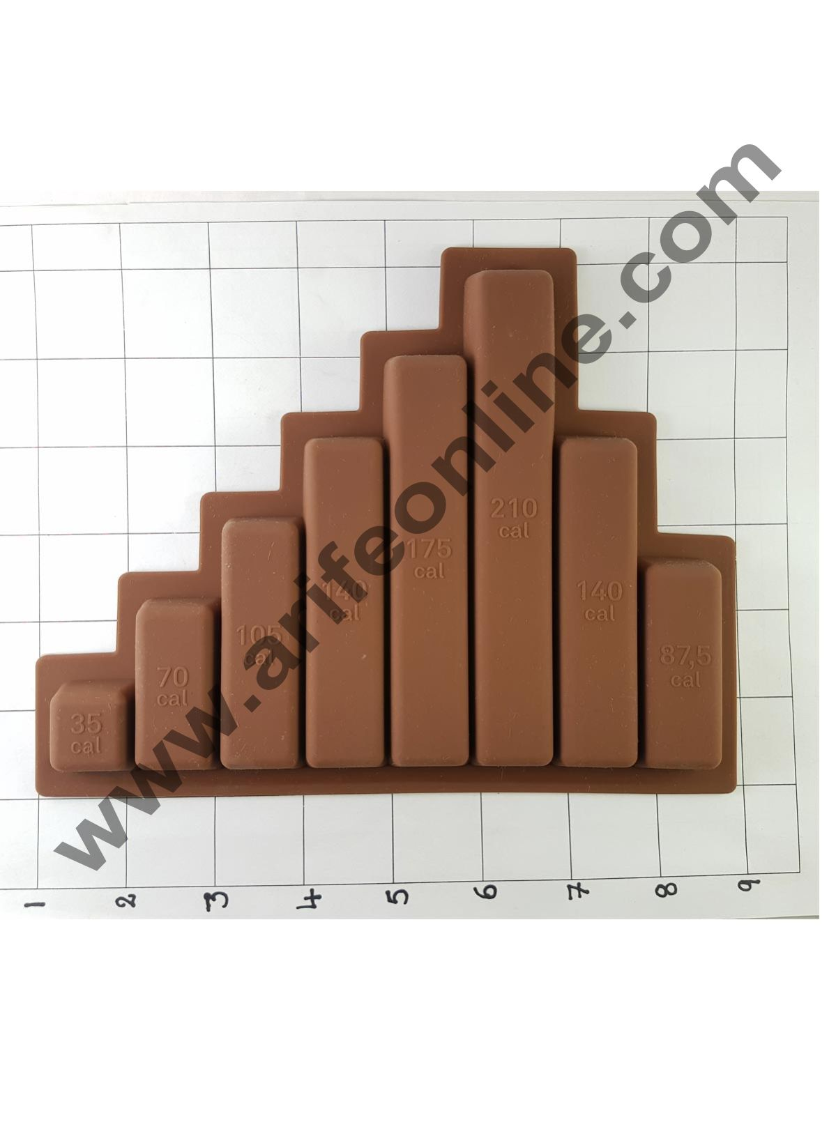 Cake Decor Silicon 8 Cavity Cadbury Slab Design Brown Chocolate Mould, Ice Mould, Chocolate Decorating Mould