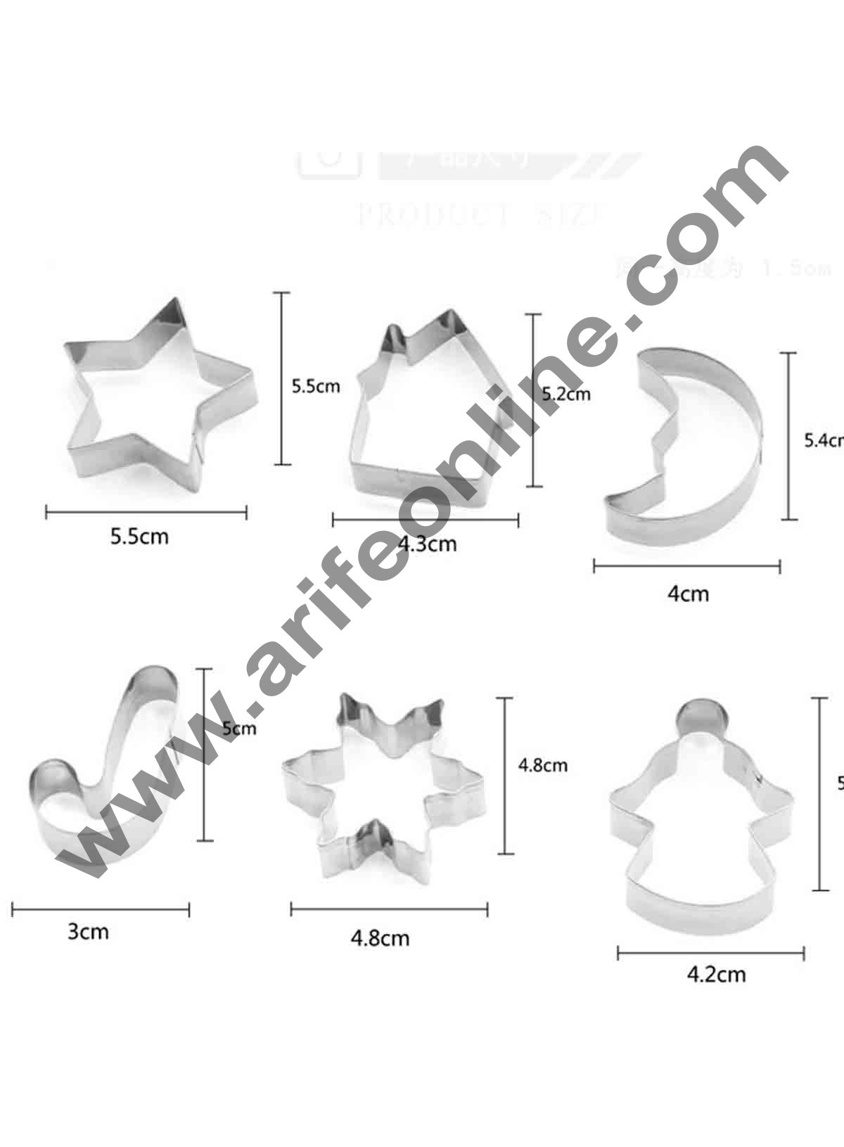 Cake Decor 10 Pcs Christmas Cookies Cutter Bakeware Mould Biscuit Mould Set Sugar Arts Fondant Cake Decoration Tools