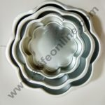 Cake Decor Flower Shape Aluminum 3 in 1 Cake Mould Set of 30