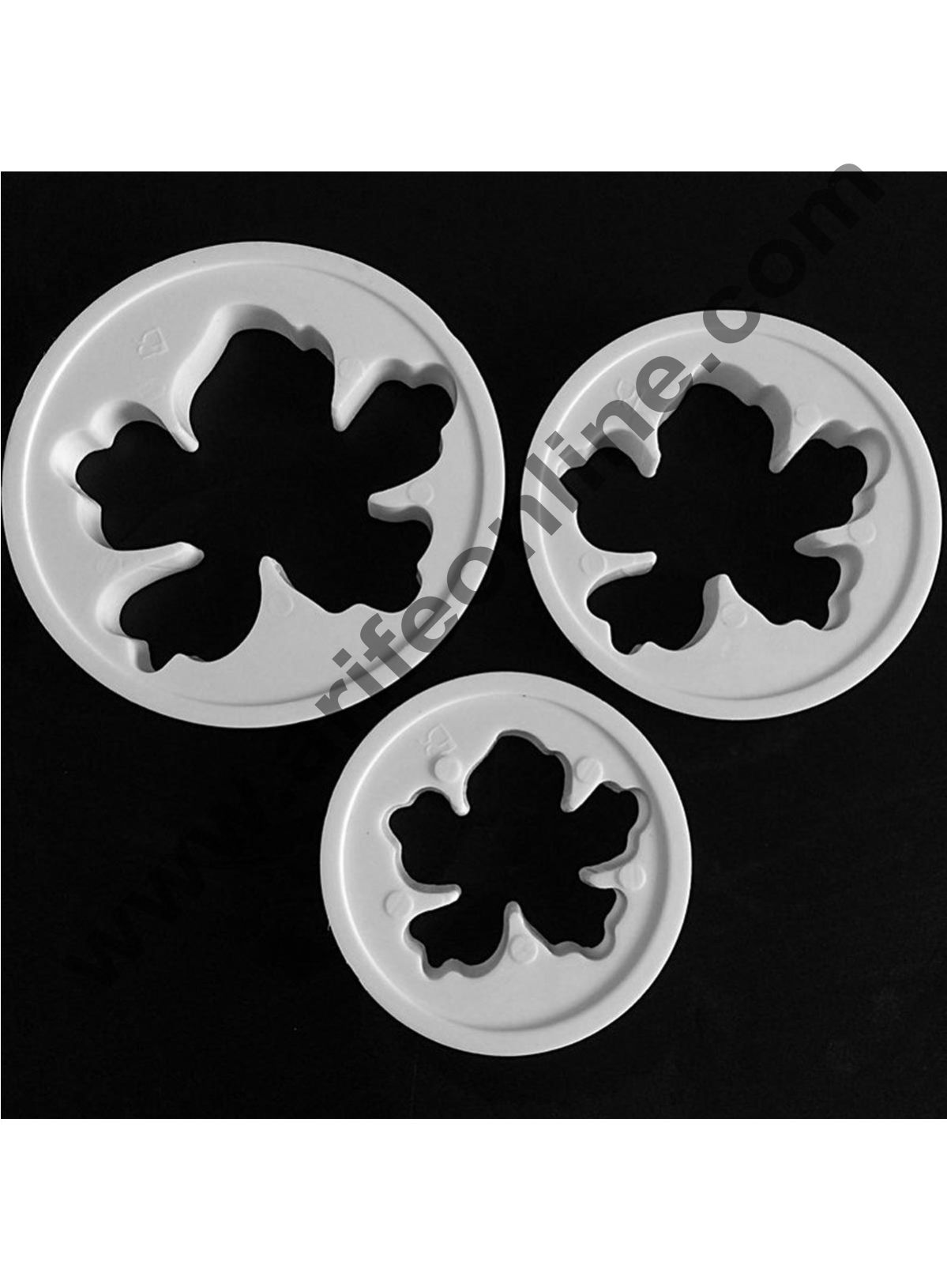 Cake Decor 3 Piece Hawaiian Flowers Fondant Cake Decorating Plunger Cookie Cutter Mold