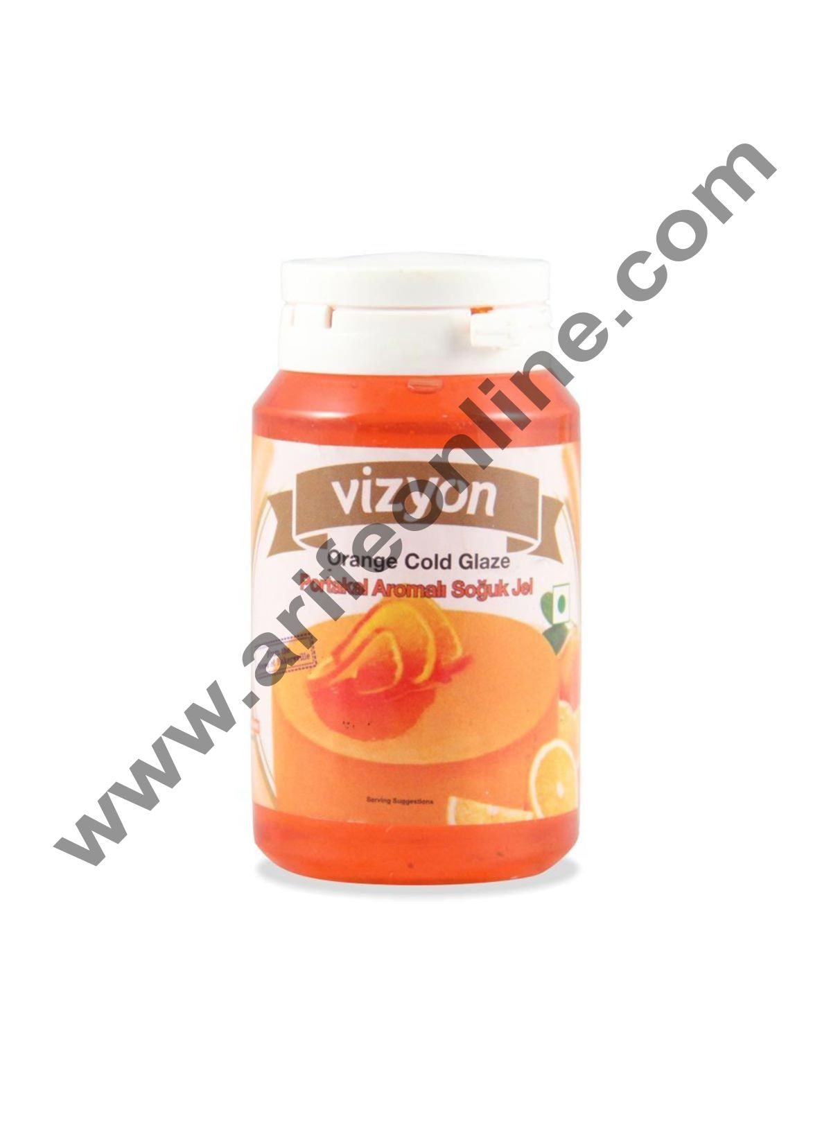 Vizyon Orange Cold Glaze, 200gm
