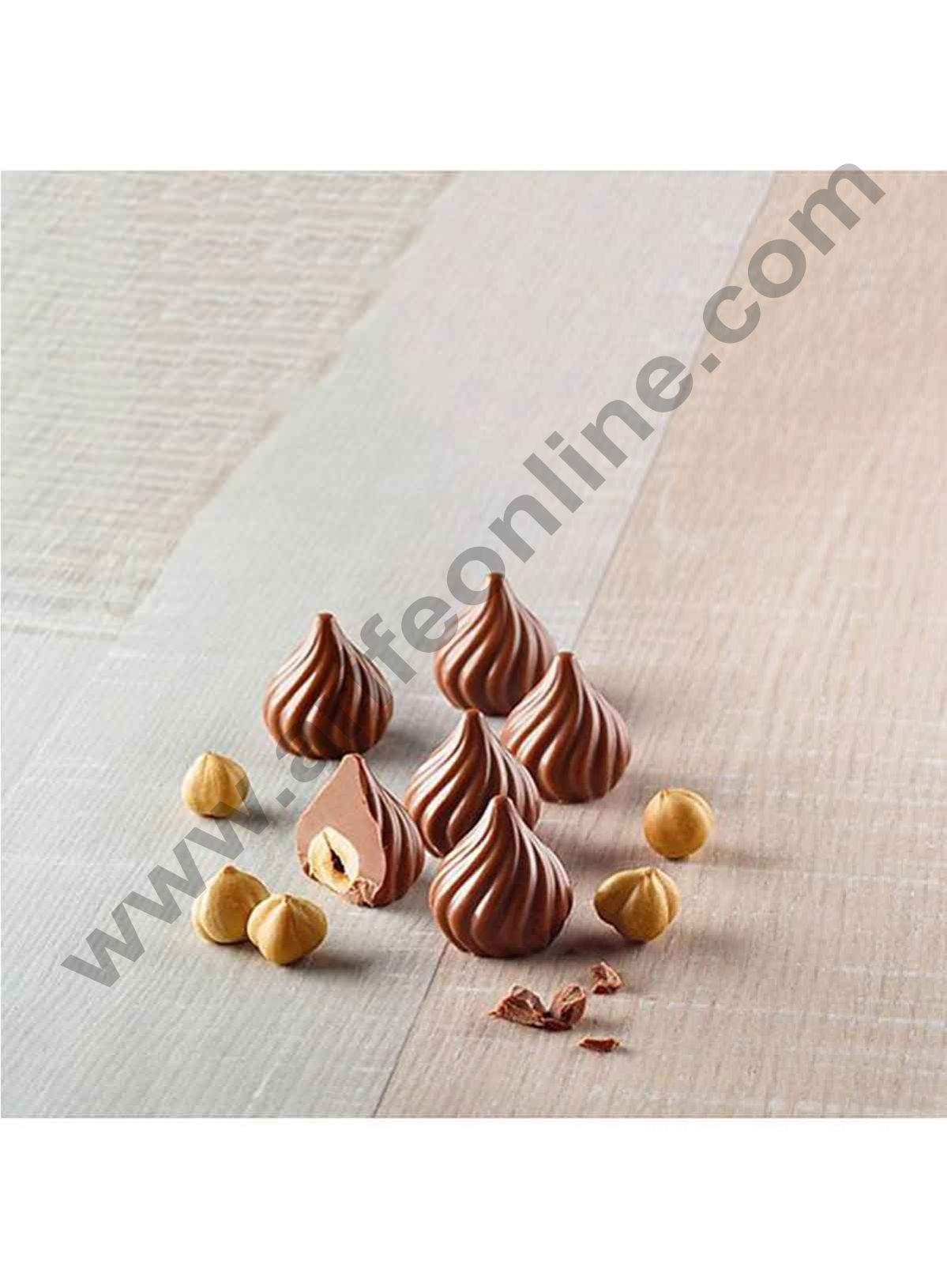 Cake Decor New Mini Modak Shape 15 Cavity Chocolate Mould, Silicone Molds for Chocolate, Chocolate Silicone Moulds, Silicon Brown Chocolate Moulds for Ganesh Chaturti Festivals