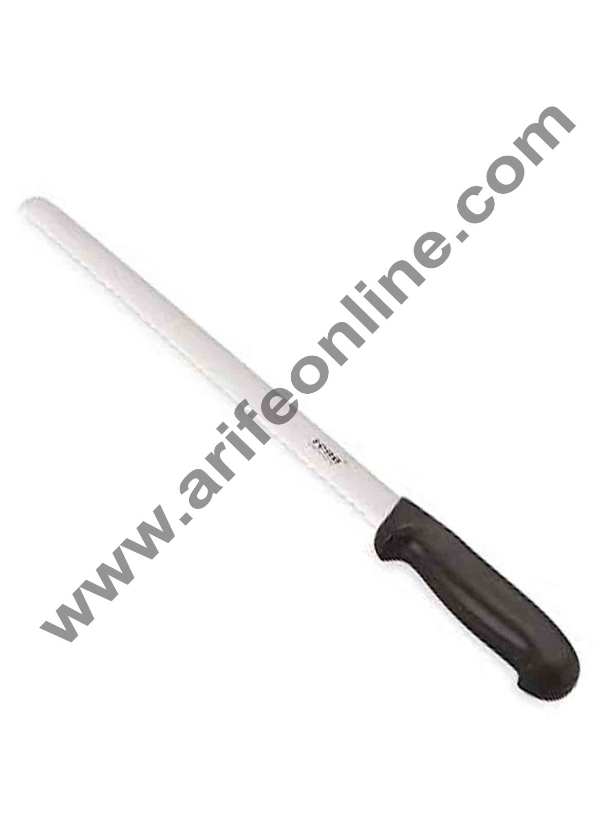 "Cake Decor Rena Bread Knife 16"" Wide Teeth, Black Color, Bread Knife"