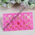 Cake Decor Fondant Quilt S Alphabet Quilt Cutter Cake Cupcake Embossing Decorating Tool Embosser cookie mold
