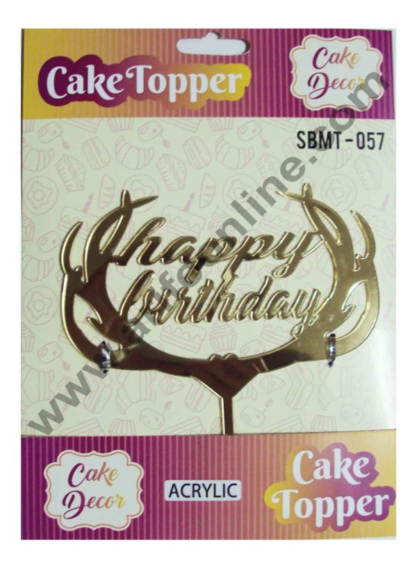 Cake Decor Mirror Finshing Acrylic Cake Topper Happy Birthday 1