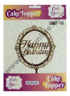 Cake Decor Mirror Finshing Acrylic Cake Topper Happy Birthday