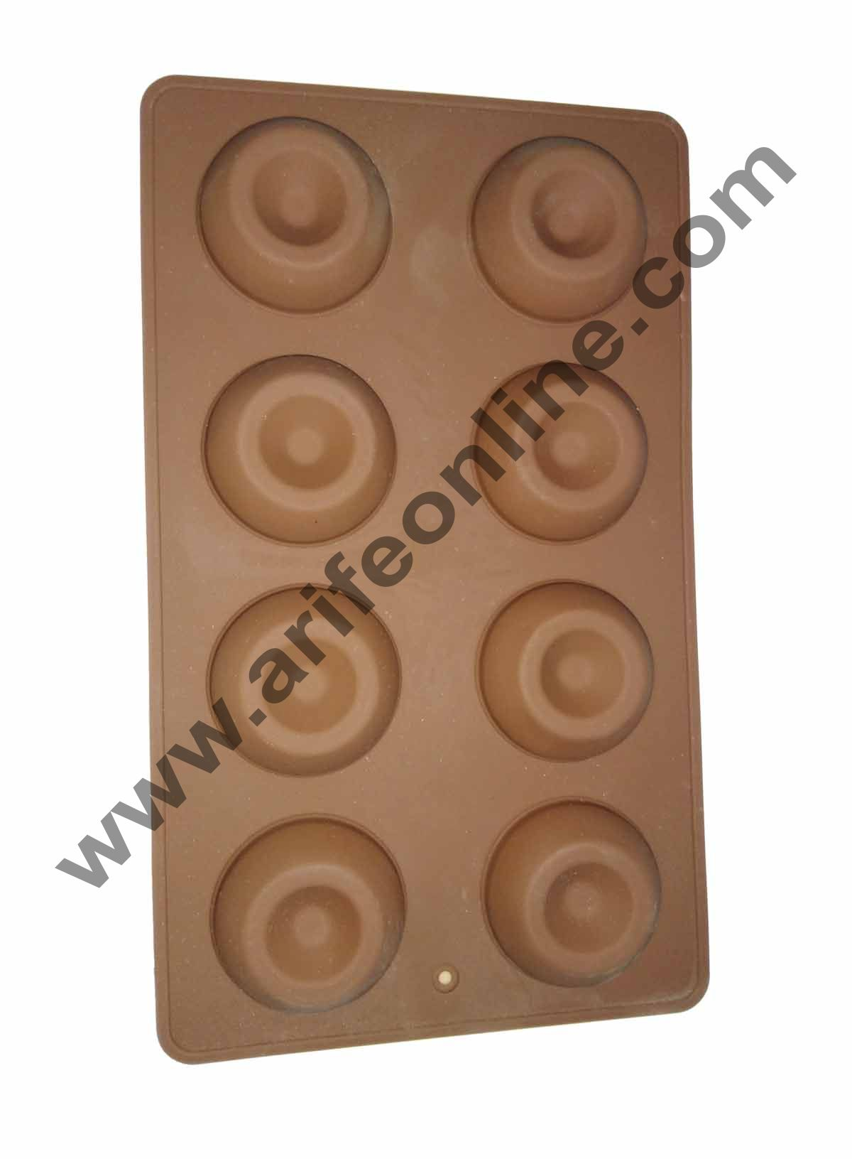 Cake Decor 8 in 1 Silicon Bakeware Donut Round Shape Cupcake Moulds Muffin Mould
