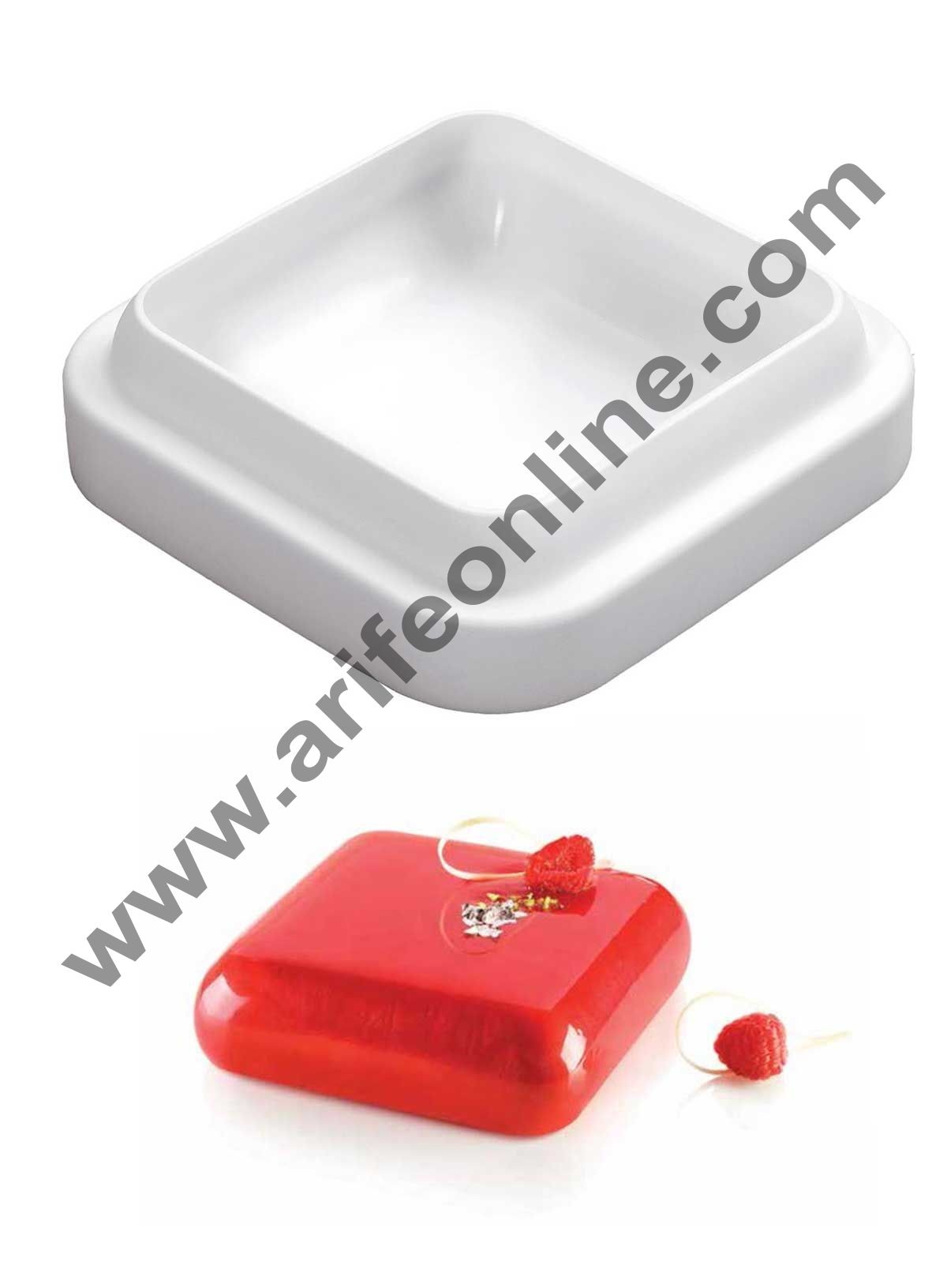 Cake Decor Silicon Rounded Square Design Cake Mould Mousse Cake Mould Silicon Moulds