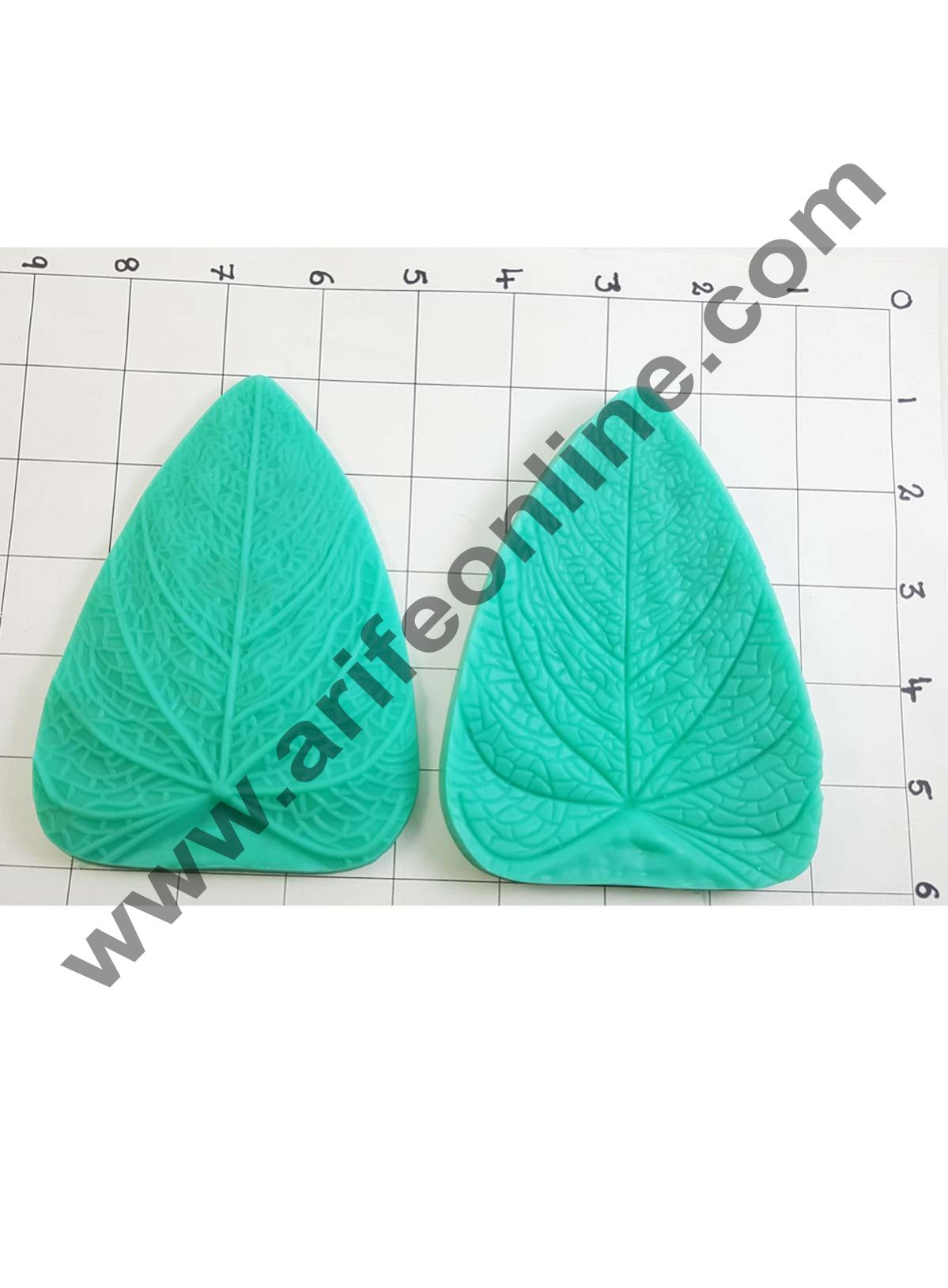 Cake Decor Silicon 1Pcs Big Veiners Leaf Shape Fondant Clay Marzipan Cake Decoration Mould