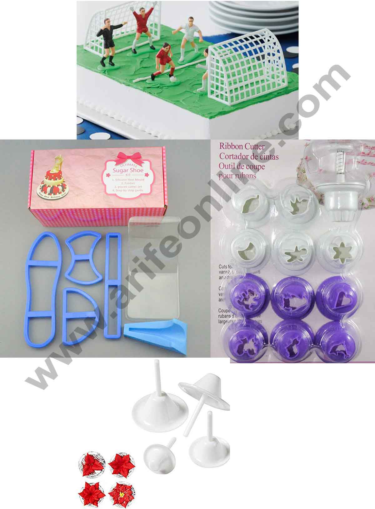 Fondant Cakes Decoration Tools Combo with Football Toys