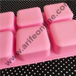Cake Decor 6 Cavity Basic Square Design Homemade Melt and Pour Soap Cold Process Soap Muffins All Purpose Mould ; Soap Weight : Approx 120 Grams 2