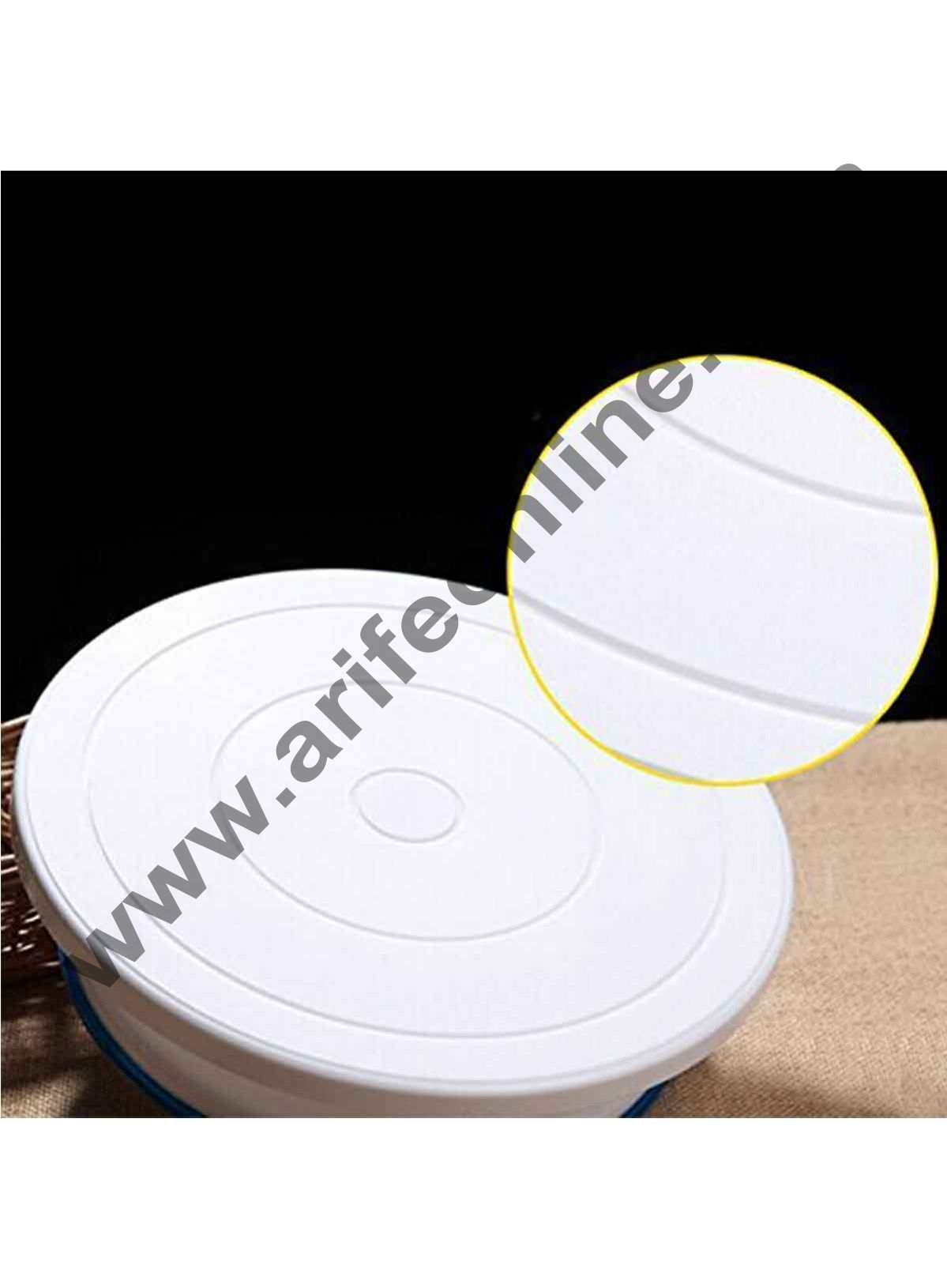 Cake Decor Round Rotating Revolving Cake Turntable Decorating Stand Platform, 29 CM White