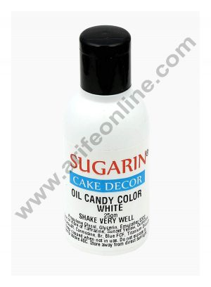 Sugarin Oil Candy Color for White Chocolate & Oil based Products, White 25 gram
