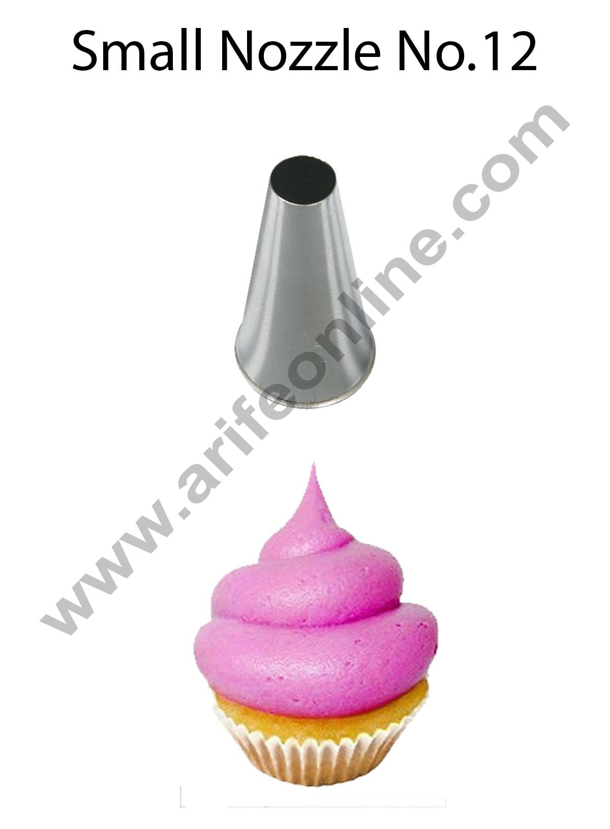 Cake Decor Small Nozzle - No. 12 Round Piping Nozzle