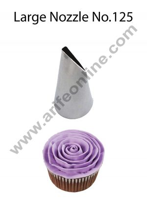 Cake Decor Large Nozzle - No. 125 Petal Piping Nozzle