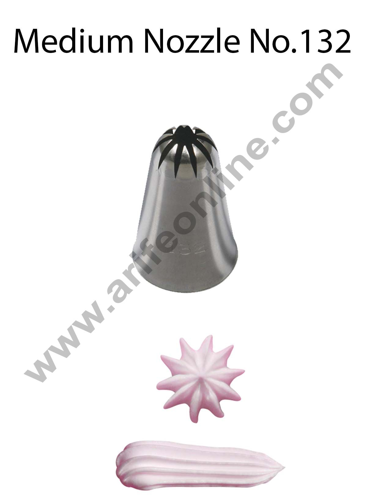 Cake Decor Medium Nozzle - No. 132 Closed Star Piping Nozzle